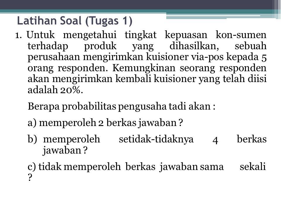 Latihan Soal (Tugas 1)