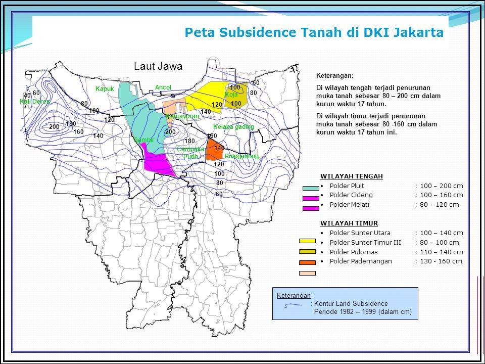 Peta Subsidence Tanah di DKI Jakarta