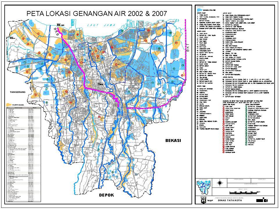 PETA LOKASI GENANGAN AIR 2002 & 2007