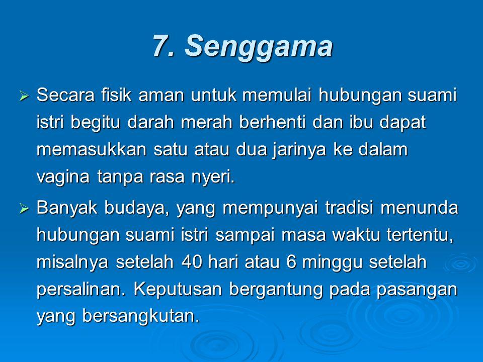 7. Senggama