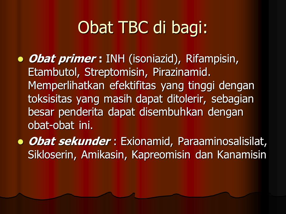 Obat TBC di bagi: