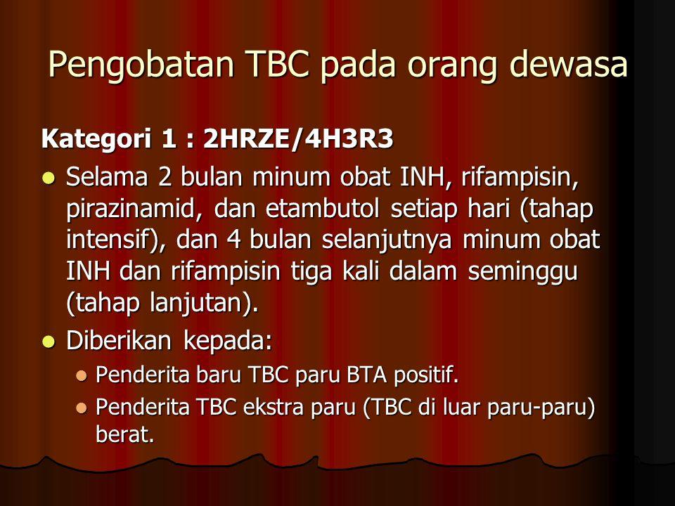 Pengobatan TBC pada orang dewasa