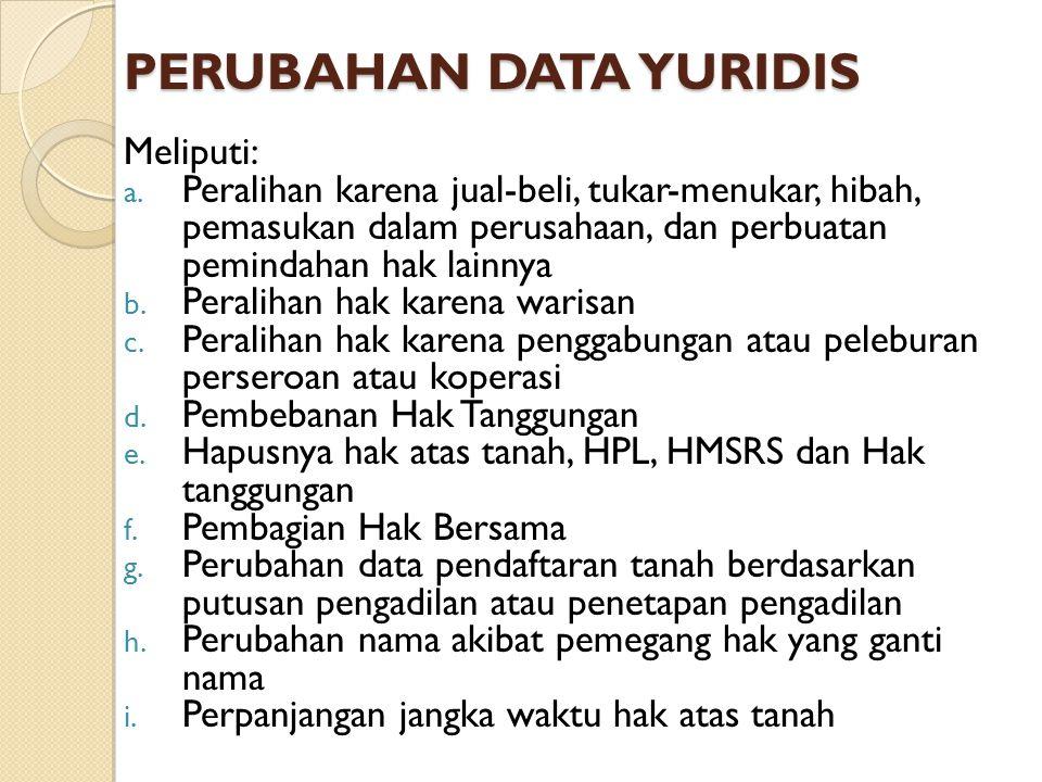 PERUBAHAN DATA YURIDIS