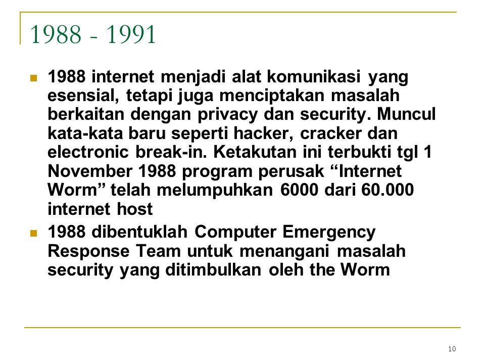 1988 - 1991