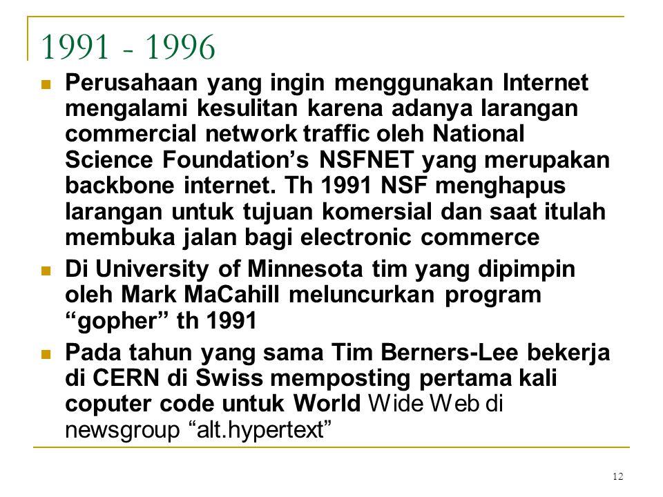 1991 - 1996