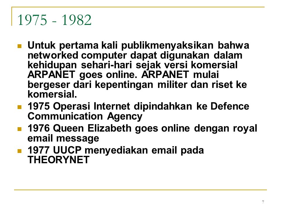 1975 - 1982