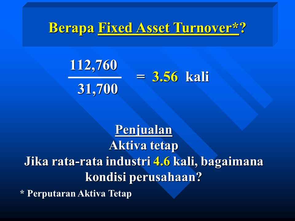 Berapa Fixed Asset Turnover*