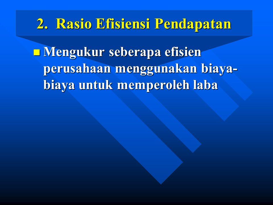 2. Rasio Efisiensi Pendapatan