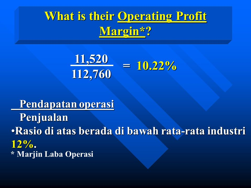 What is their Operating Profit Margin*