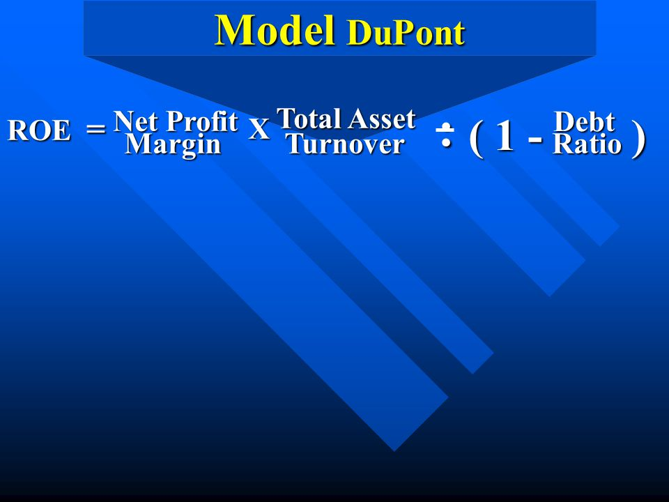 : Model DuPont ( 1 - ) ROE = Net Profit Margin X Total Asset Turnover