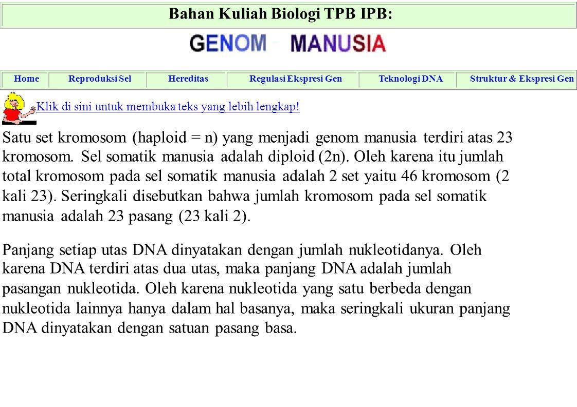 Bahan Kuliah Biologi TPB IPB: -