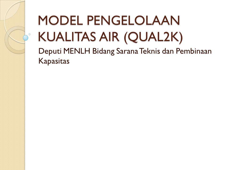 MODEL PENGELOLAAN KUALITAS AIR (QUAL2K)
