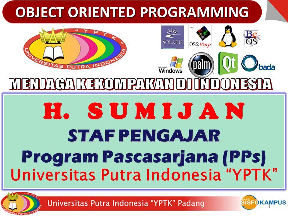 H. S U M I J A N STAF PENGAJAR Program Pascasarjana (PPs)