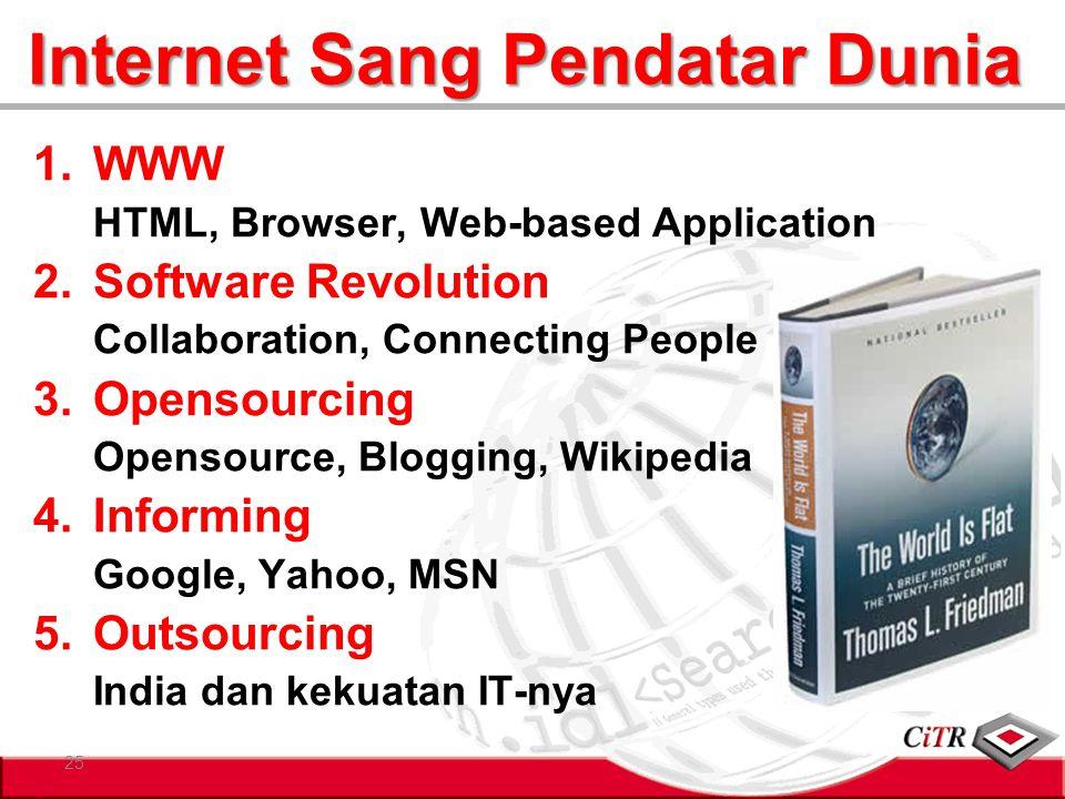 Internet Sang Pendatar Dunia