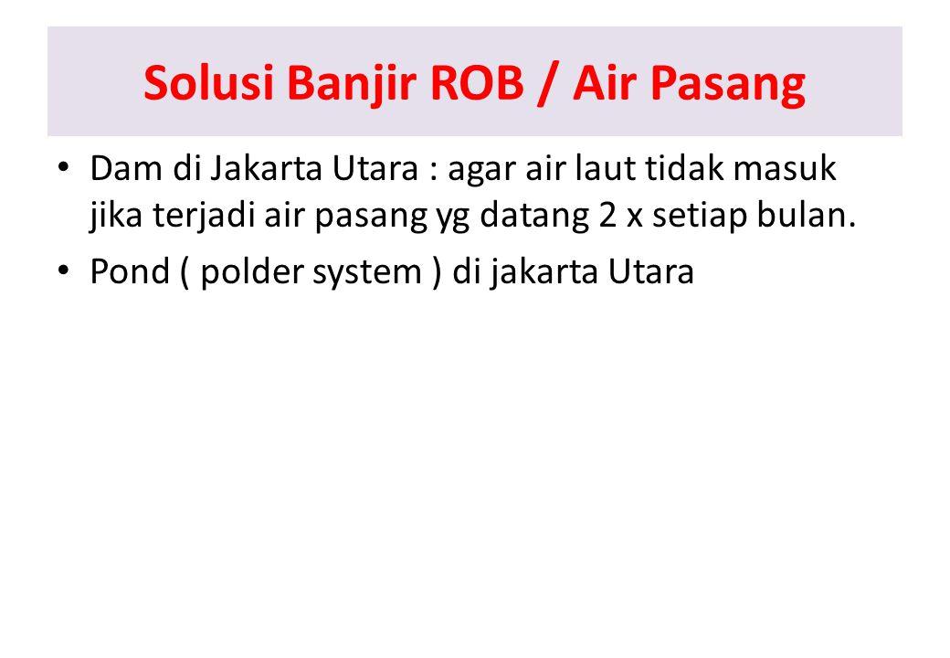 Solusi Banjir ROB / Air Pasang