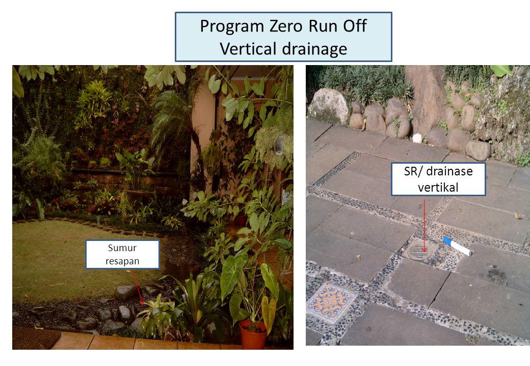 Program Zero Run Off Vertical drainage SR/ drainase vertikal