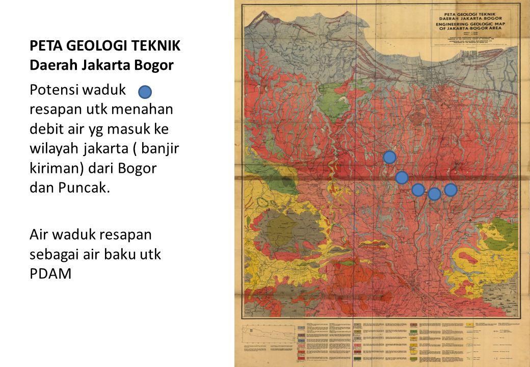 PETA GEOLOGI TEKNIK Daerah Jakarta Bogor