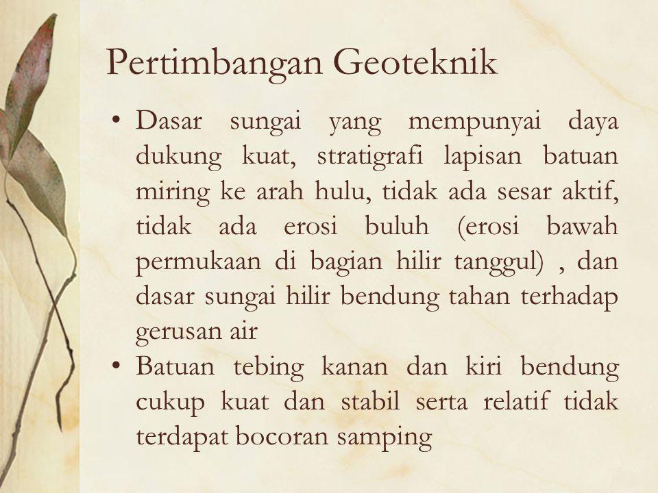 Pertimbangan Geoteknik