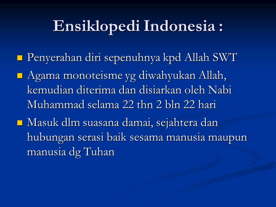Ensiklopedi Indonesia :