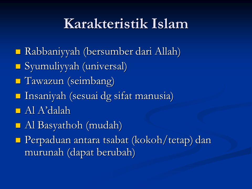 Karakteristik Islam Rabbaniyyah (bersumber dari Allah)