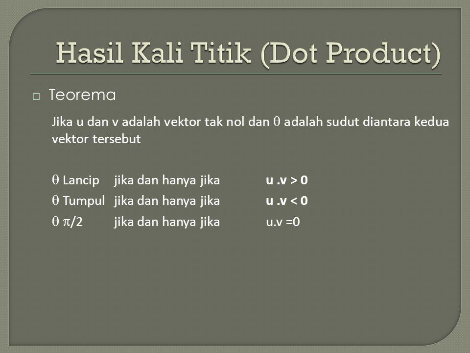 Hasil Kali Titik (Dot Product)