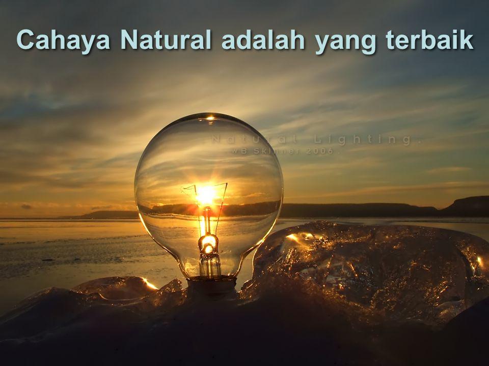 Cahaya Natural adalah yang terbaik