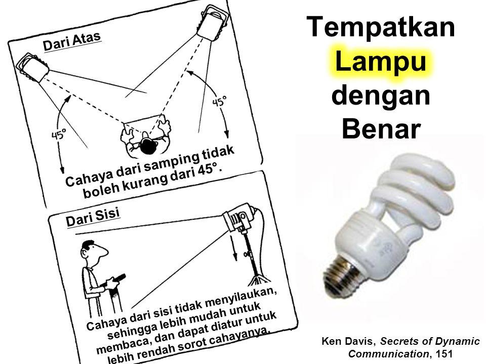 Tempatkan Lampu dengan Benar