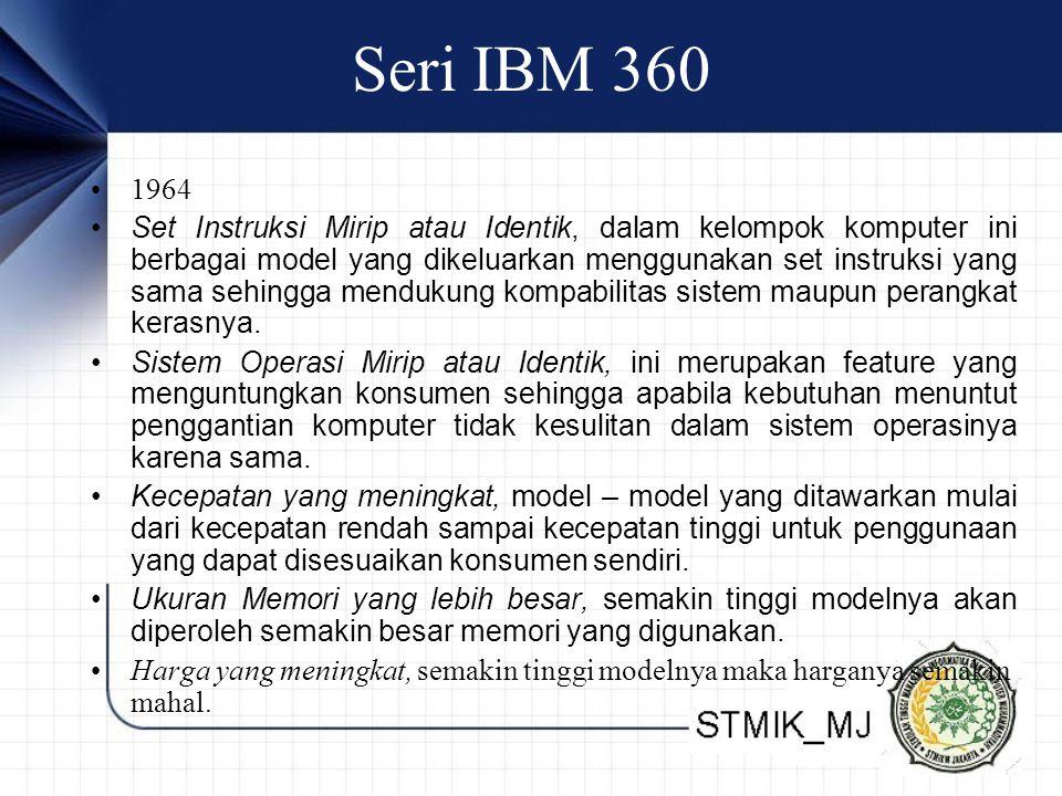 Seri IBM 360 1964.
