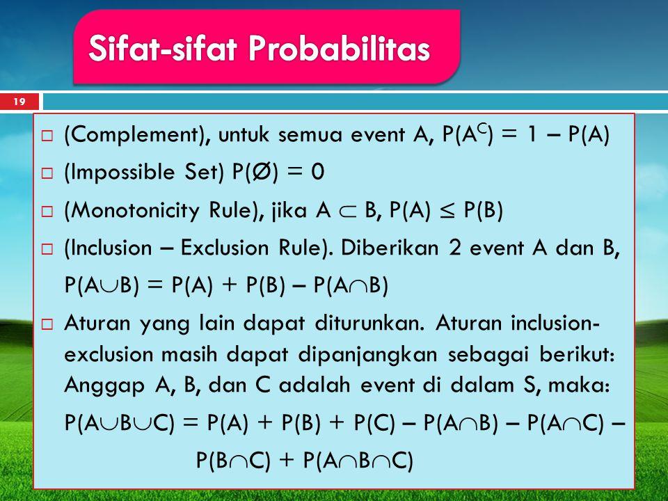 Sifat-sifat Probabilitas