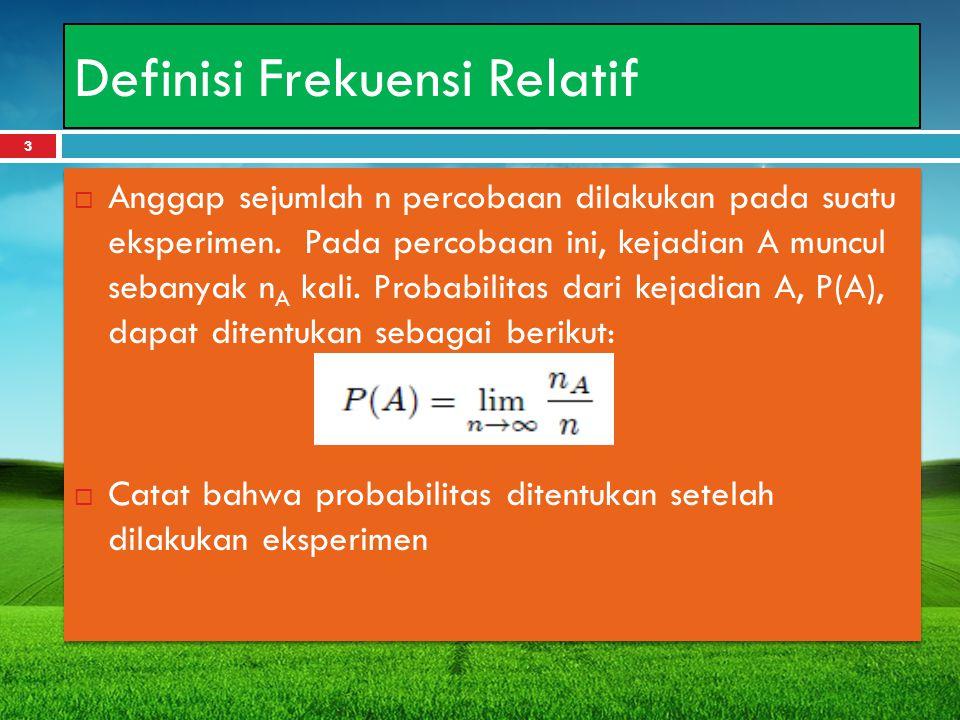 Definisi Frekuensi Relatif