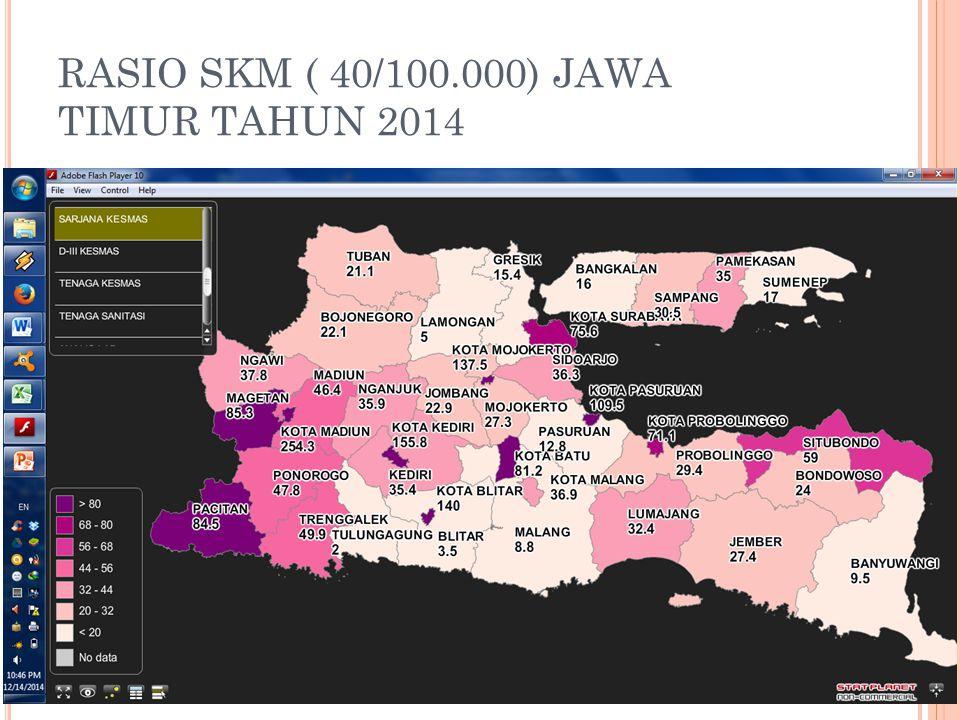 RASIO SKM ( 40/100.000) JAWA TIMUR TAHUN 2014