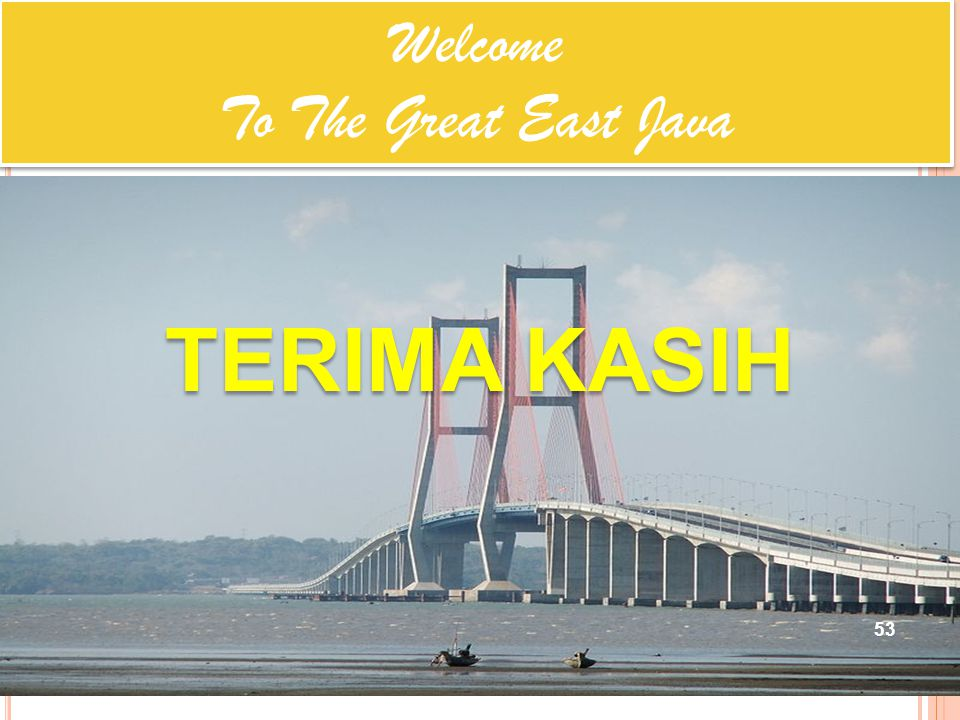 Welcome To The Great East Java TERIMA KASIH