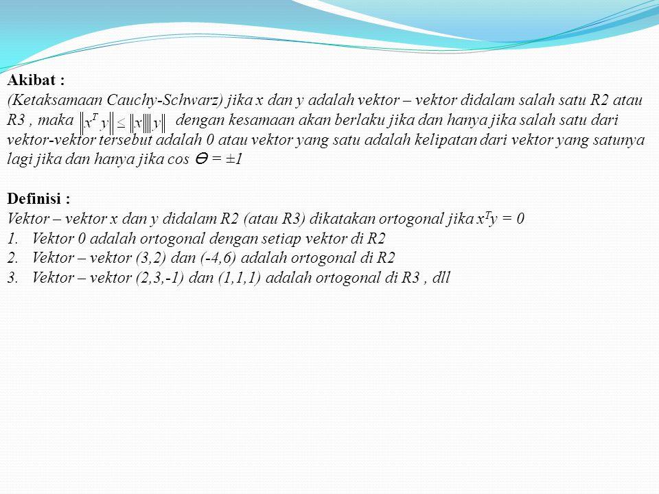 Akibat :