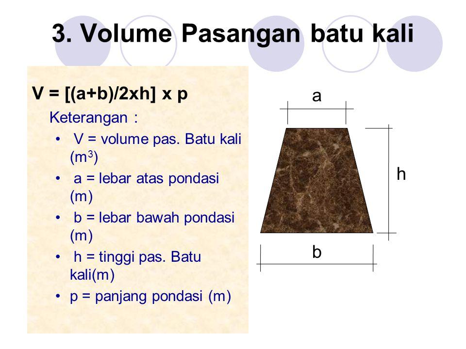 3. Volume Pasangan batu kali