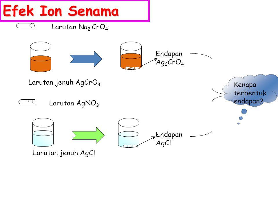 Efek Ion Senama Larutan Na2 CrO4 Endapan Ag2CrO4