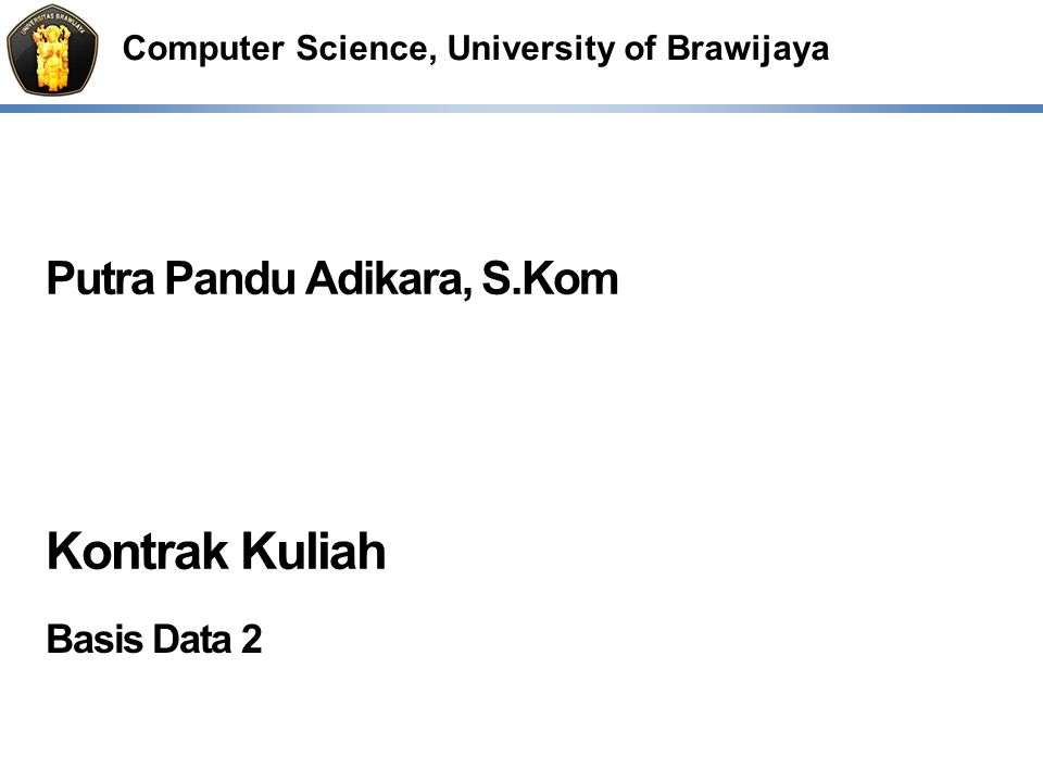 Kontrak Kuliah Basis Data 2