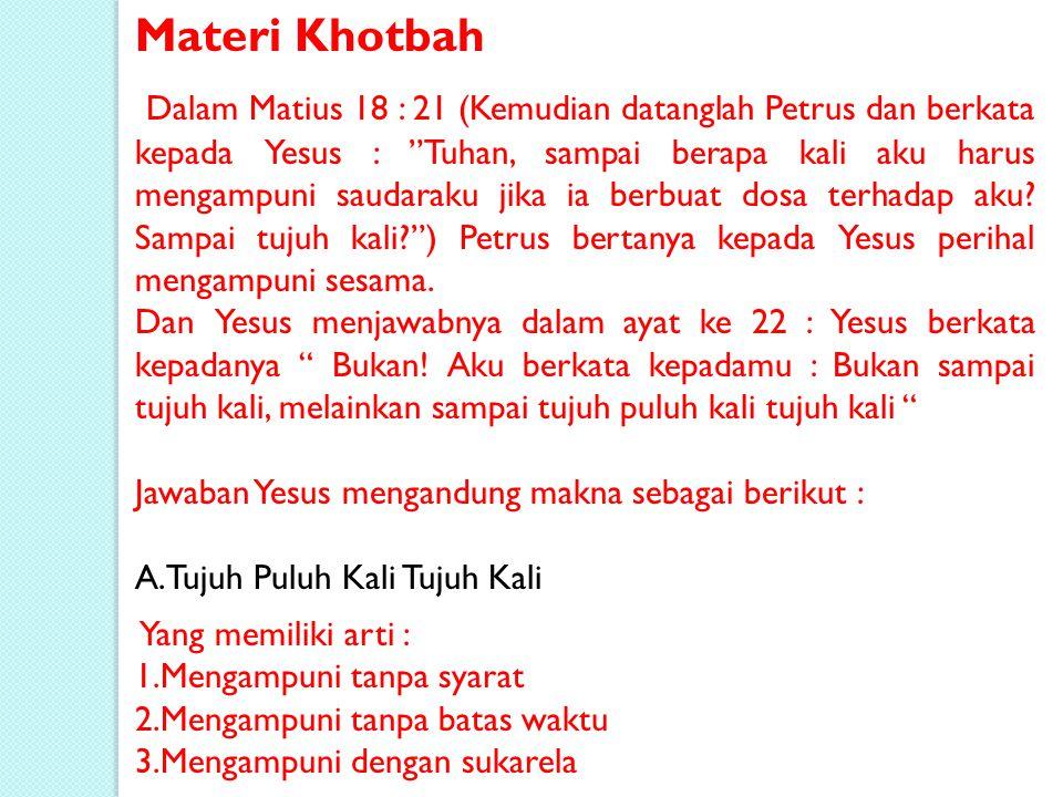 Materi Khotbah