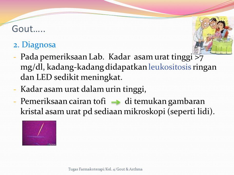 Gout….. 2. Diagnosa.