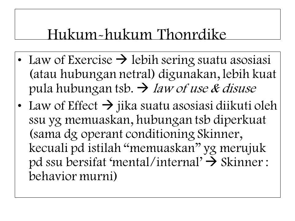 Hukum-hukum Thonrdike