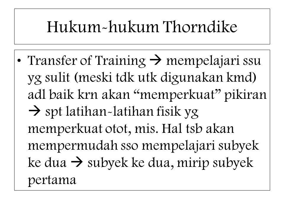 Hukum-hukum Thorndike