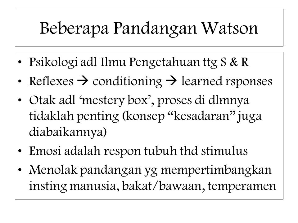 Beberapa Pandangan Watson