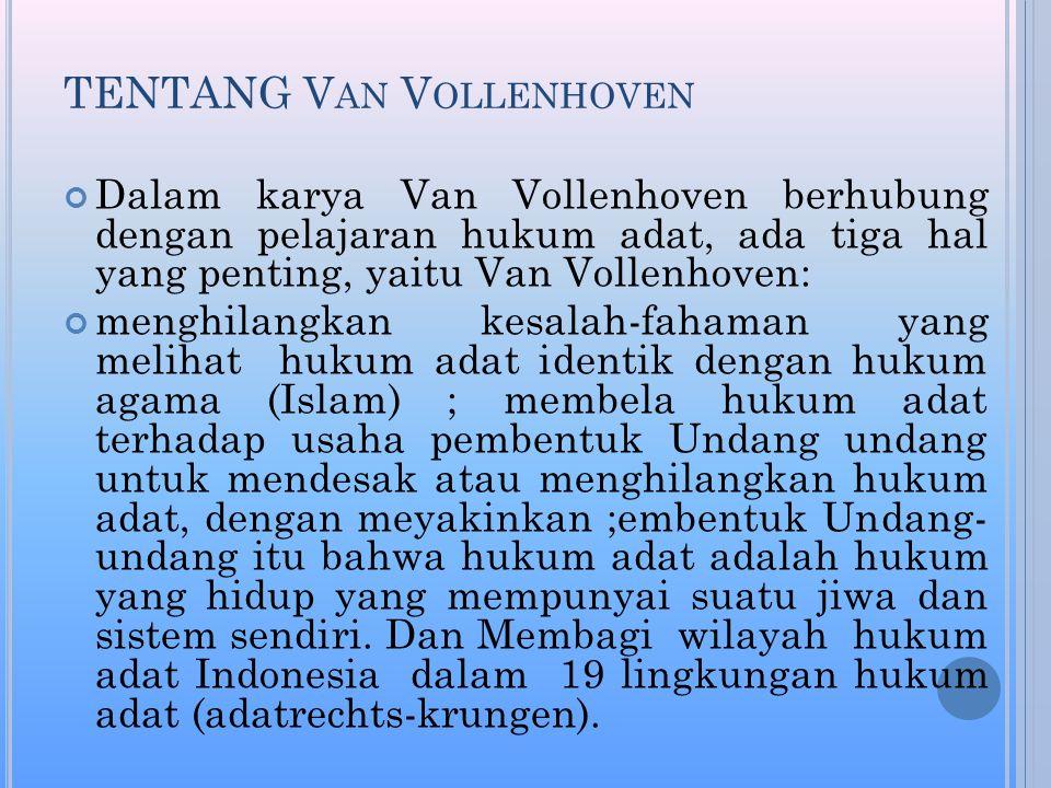 TENTANG Van Vollenhoven