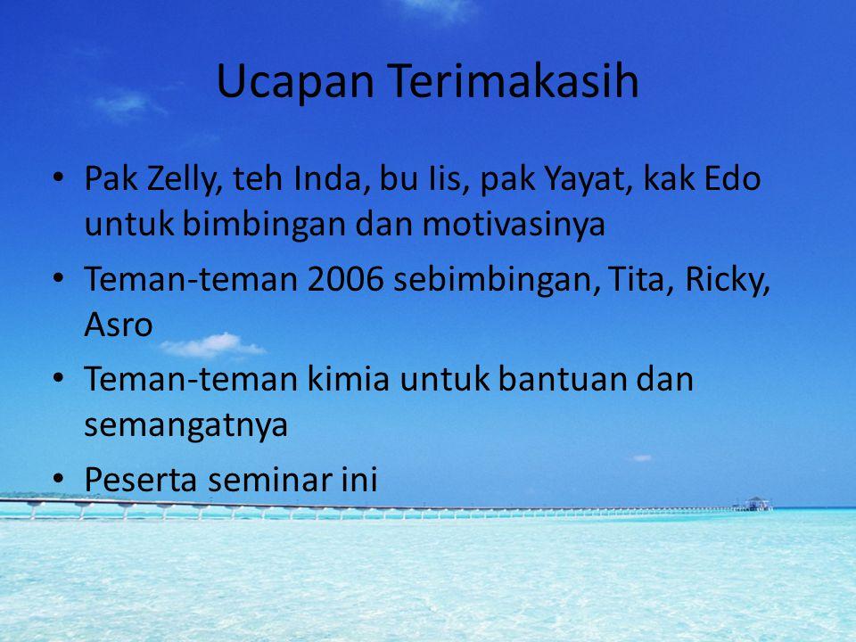 Ucapan Terimakasih Pak Zelly, teh Inda, bu Iis, pak Yayat, kak Edo untuk bimbingan dan motivasinya.