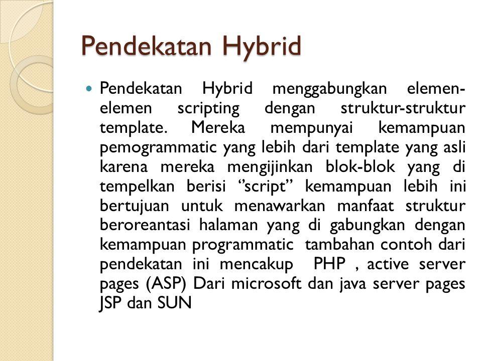 Pendekatan Hybrid
