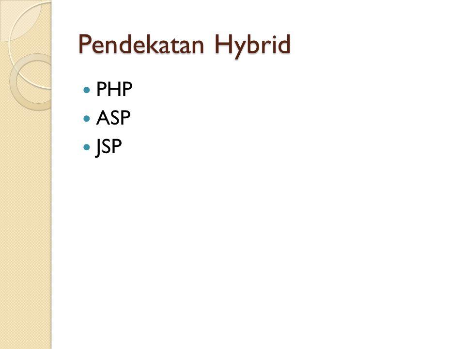 Pendekatan Hybrid PHP ASP JSP