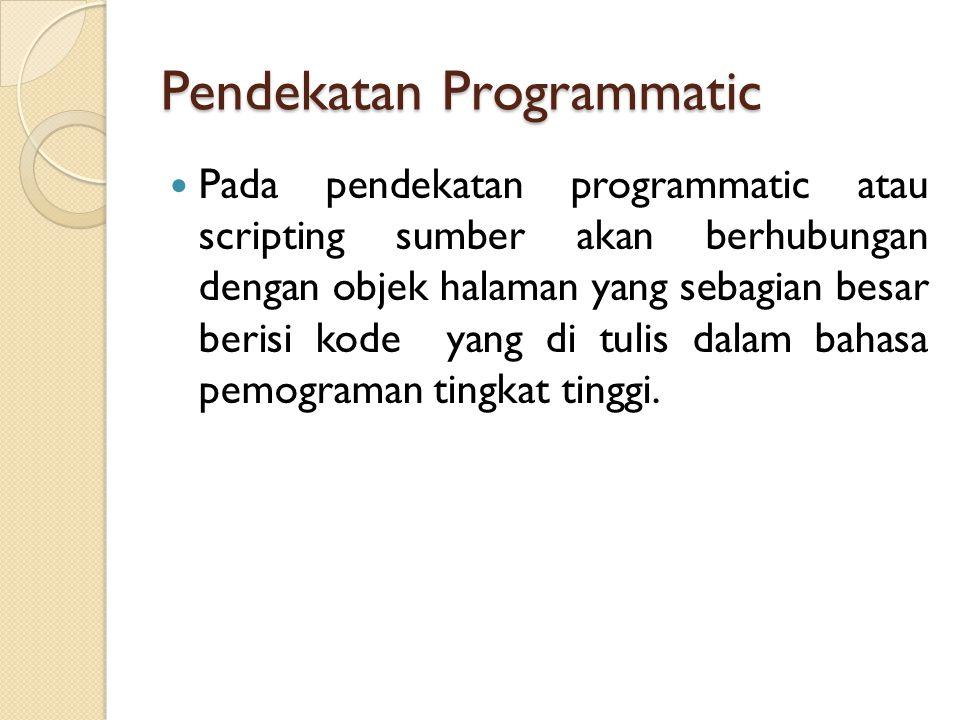 Pendekatan Programmatic