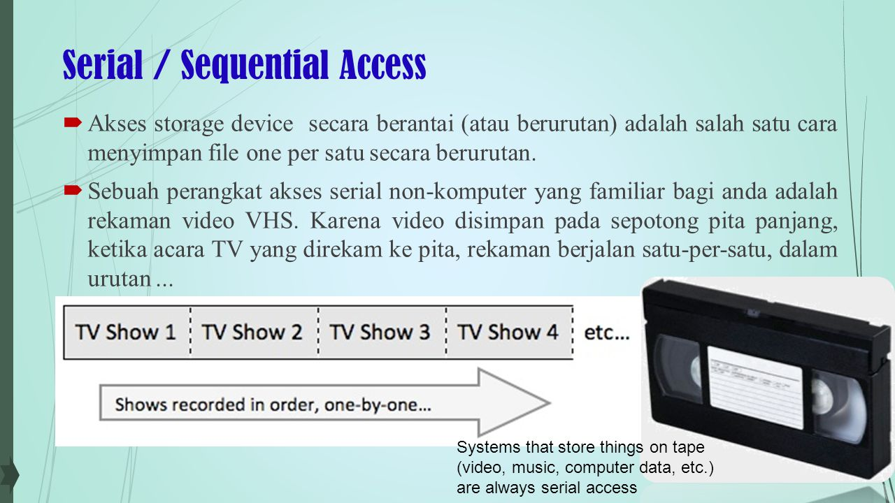 Serial / Sequential Access