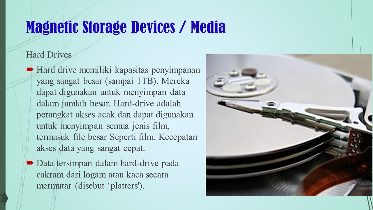 Magnetic Storage Devices / Media