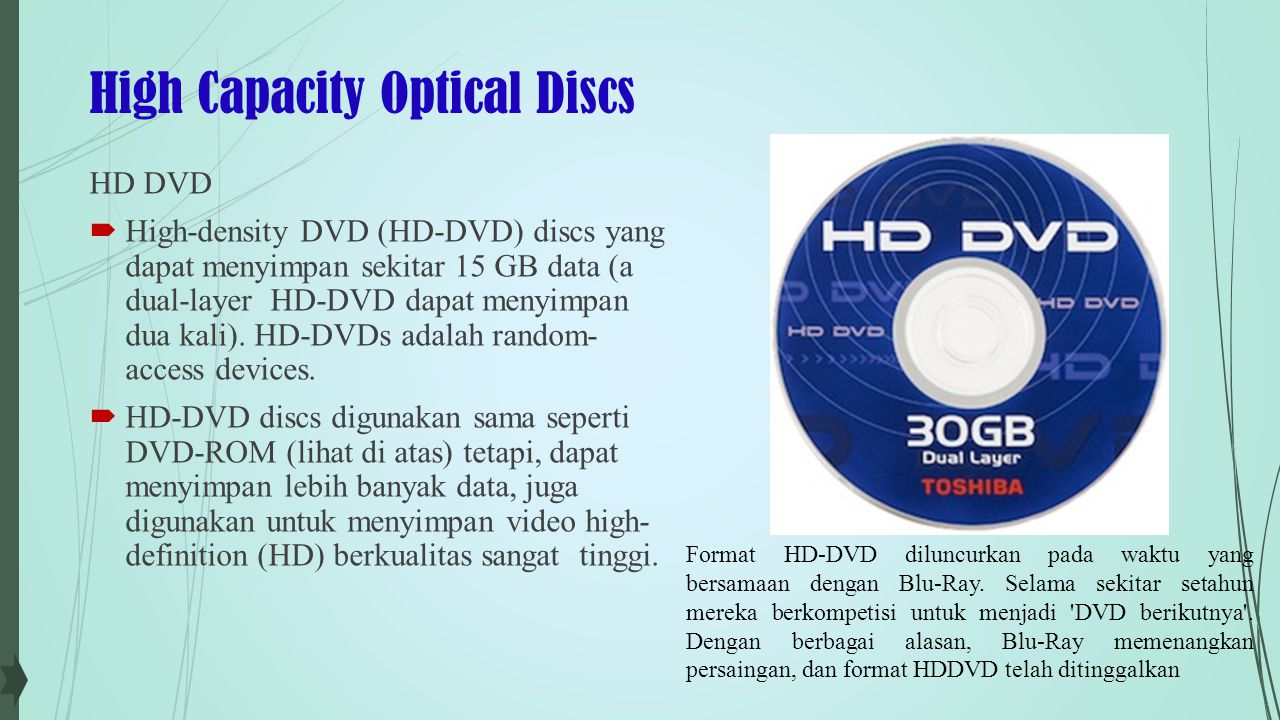High Capacity Optical Discs