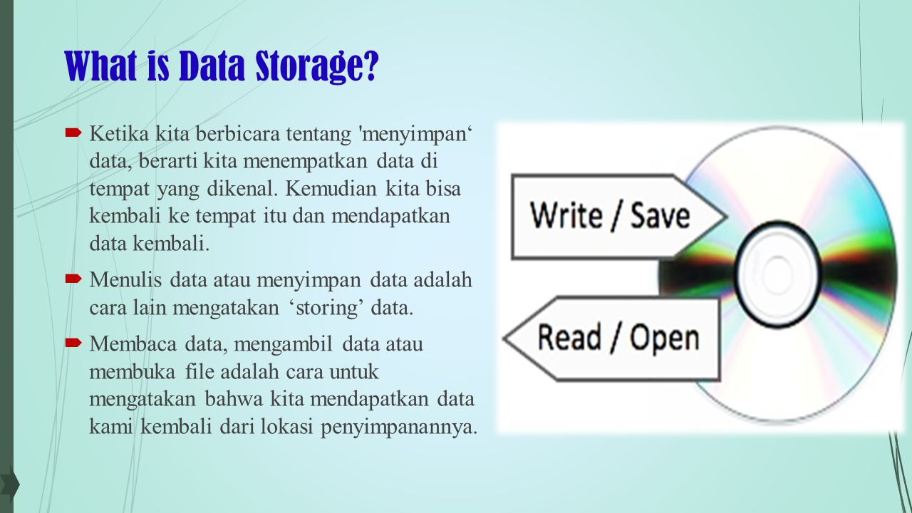 What is Data Storage